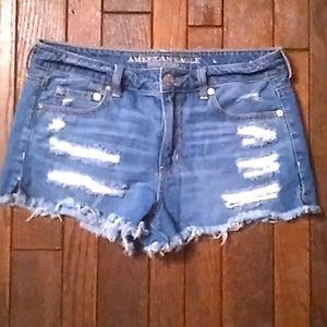 American Eagle Distressed Shorts. Sz 8